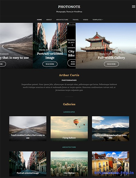 Photo-Note-WordPress-Theme