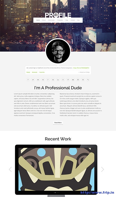 Profile-Resume-WordPress-Theme