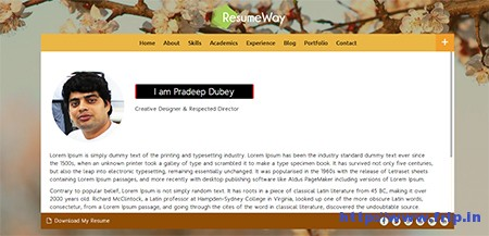 Resumeway-WordPress-Theme