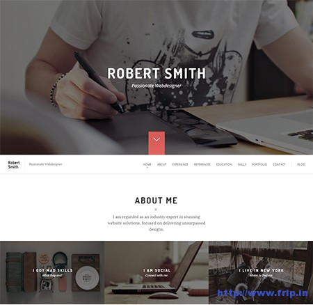Robert-Smith-Resume-WordPress-Theme