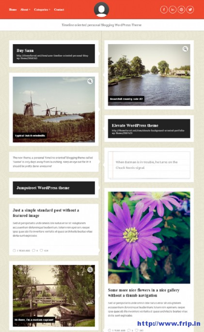 Sann-Time-Oriented-WordPress-Theme