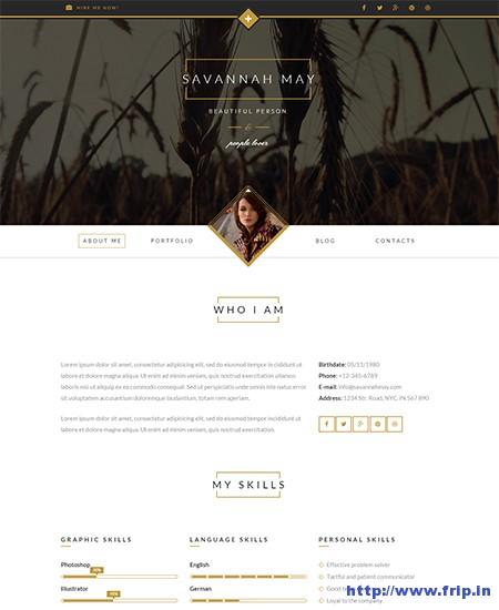 Savannah-WordPress-vCard-Theme