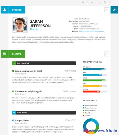Shift-CV-Resume-WordPress-Theme