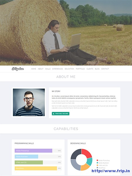 Signature-Resume-WordPress-Theme