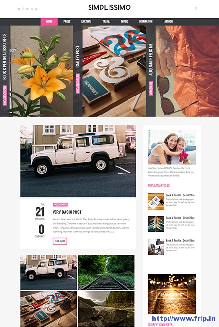 Simplissimo-Blog-WordPress-Theme