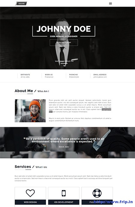 Squareroot-CV-Resume-WordPress-Theme