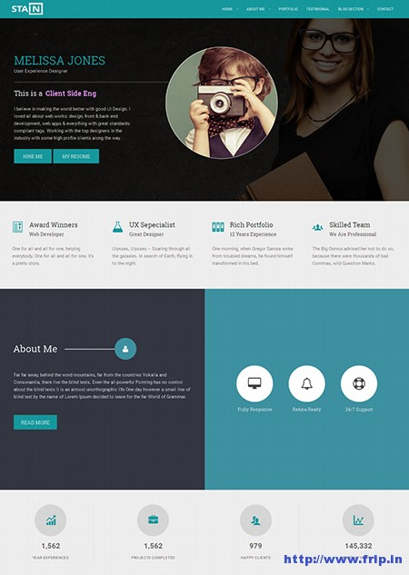Stain-Portfolio-Resume-WordPress-Theme