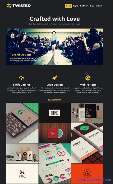 Twisted-Showcase-WordPress-Theme