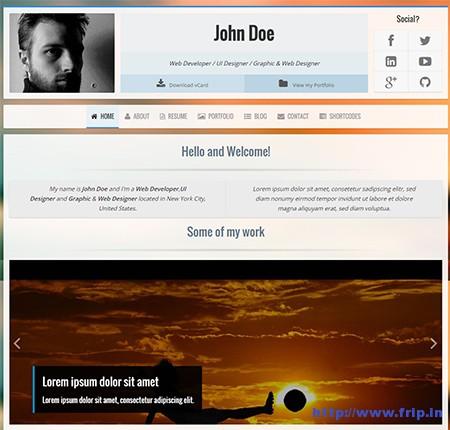 Voxr-vCard-WordPress-Theme