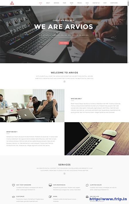 Arvios-One-Page-WordPress-Theme