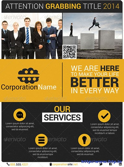 Business-Flyer-24-With-Postcard