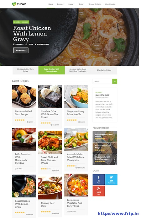 Chow-Recipe-&-Food-WordPress-Theme