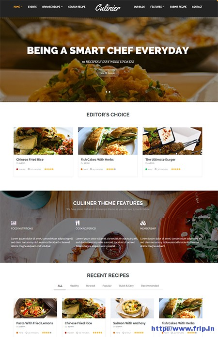 Culinier-Food-&-Recipe-WordPress-Theme
