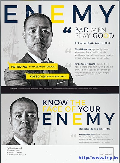 Enemy-Political-Mailer-Template