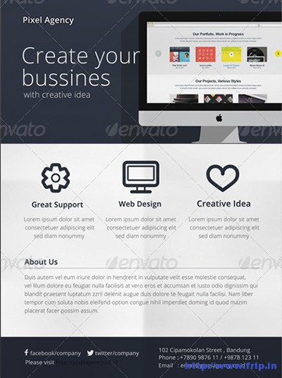 Flat-Corporate-Flyer-Template