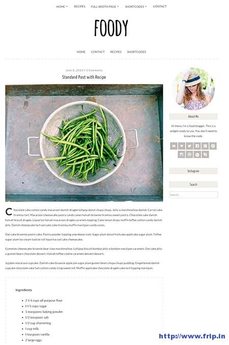Foody-A-Food-WordPress-Theme