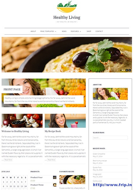 Healthy-Living-Blogging-WordPress-Theme