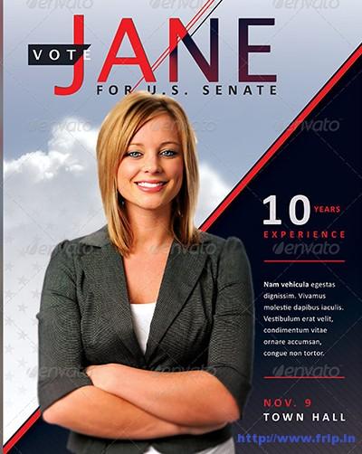 Jane-Political-Flyer-&-Mailer-Template