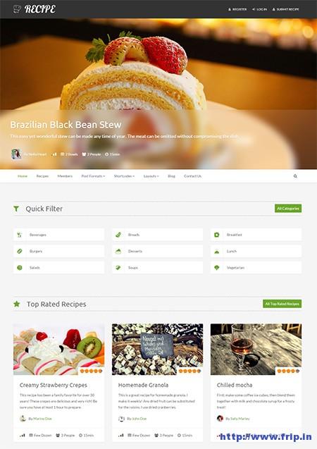 Recipes-WordPress-Theme-for-recipes