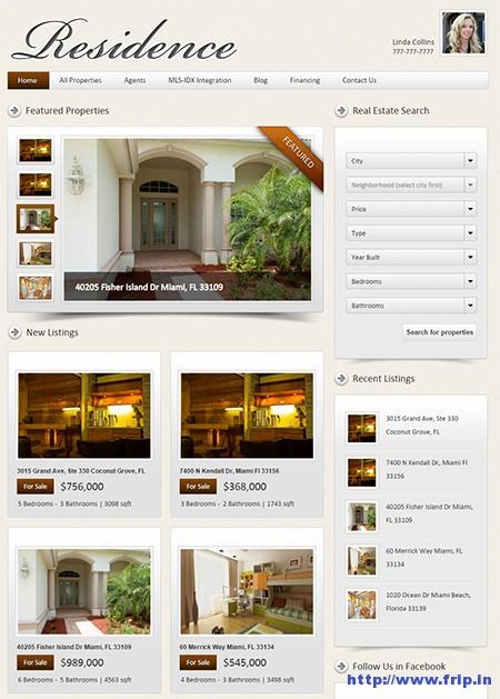 Residence-Real-Estate-WordPress-Theme