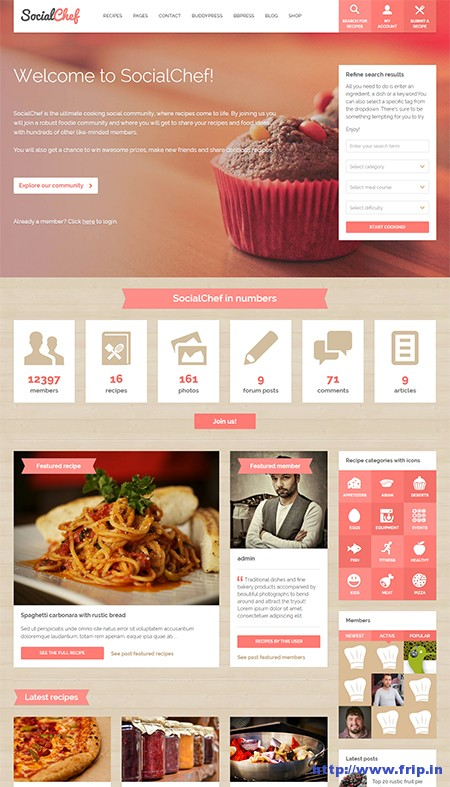 Social-Chef-Social-Recipe-WordPress-Theme