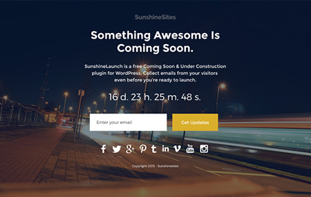 Sunshine-Launch-WordPress-Plugin