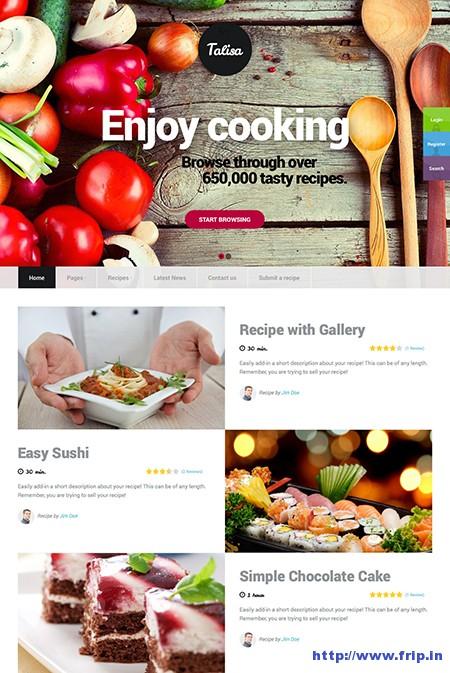 Talisa-Food-Recipes-WordPress-Theme