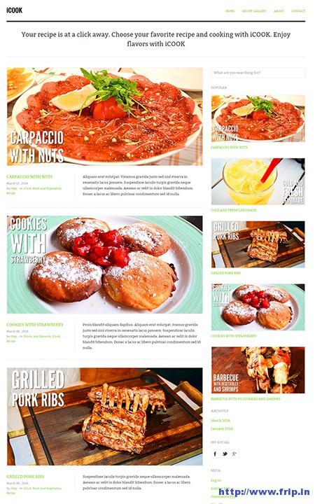iCook-Food-Recipe-WordPress-Theme