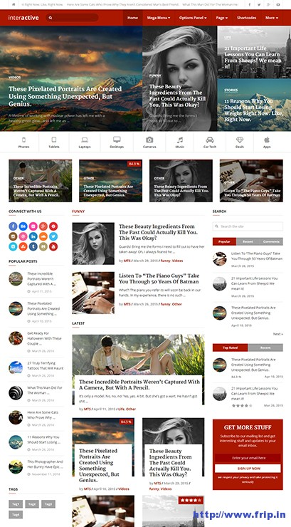 interactive-wordpress-blogging-theme