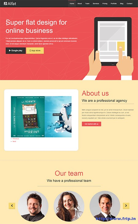 Alfat-Flat-Landing-Page-WordPress-Theme