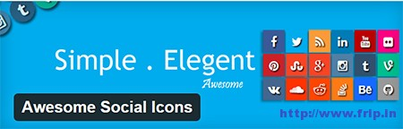 Awesome-Social-Icons-Plugin