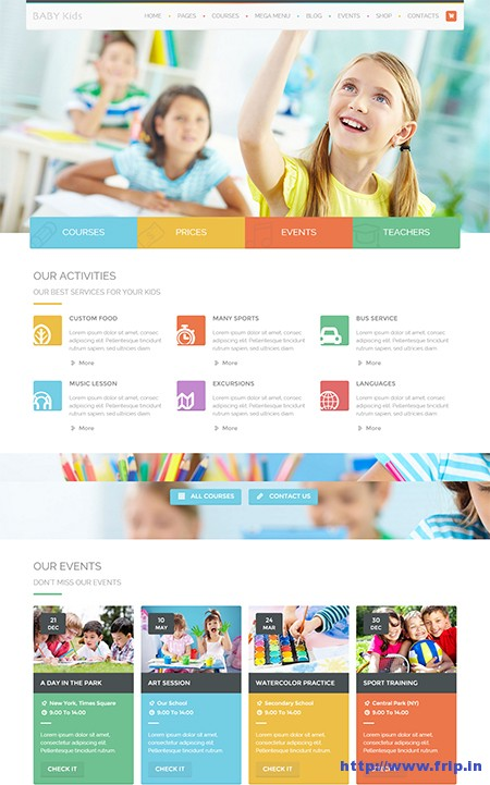 Baby-Kids-Children-Website-Template