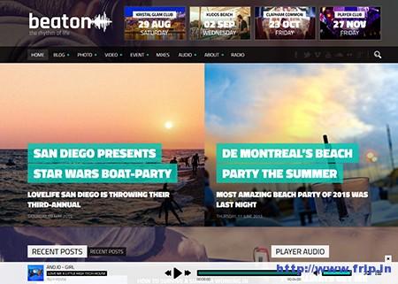 Beaton-Music-WordPress-Theme