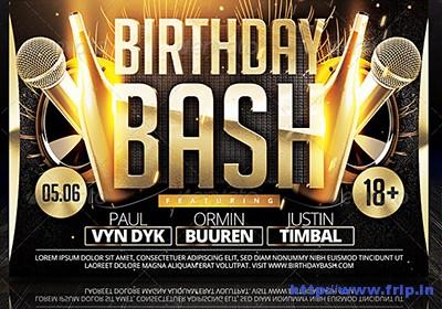 birthday bash flyer templates