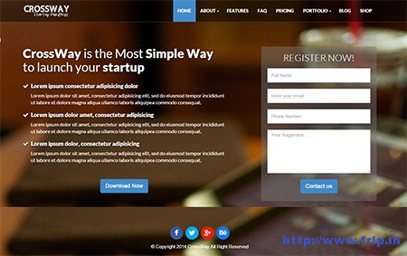 Crossway-Startup-Landing-Page-WordPress-Theme