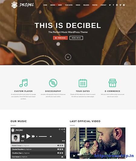 Decibel-Music-WordPress-Theme