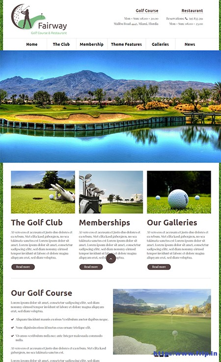 Fairway-WordPress-Golf-Theme