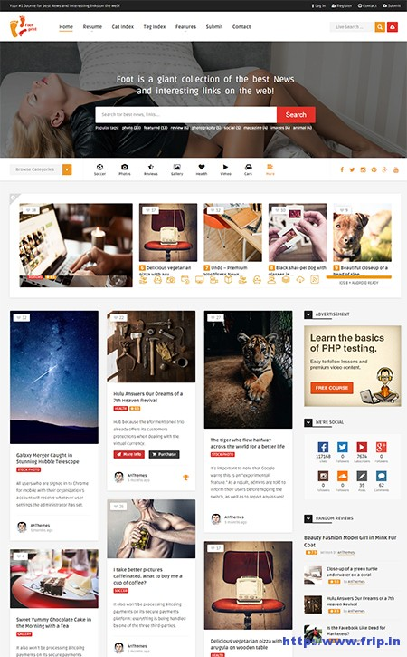 Foot-–-Grid-Content-Sharing-Theme