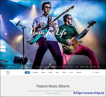 Hugo-Music-WordPress-Theme