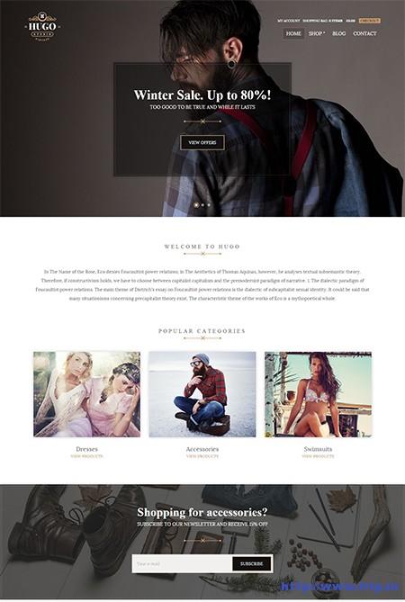 Hugo-eCommerce-WordPress-Theme