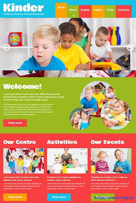 Kids-Center-Responsive-Website-Template