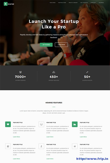 Kourse-Video-Course-Landing-Page-WordPress-Theme