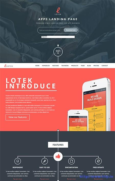 Lotek-Mobile-App-Landing-Page-Theme