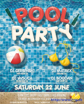 Pool-Party-Flyer-Templatees