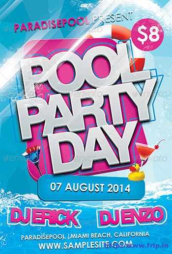 Pool-Party-Flyers