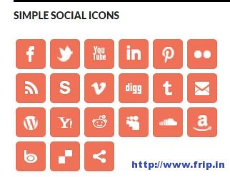 Simple-Social-Icons-Widget