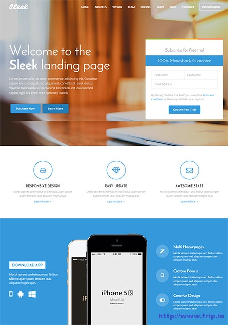 Sleek-Landing-Page-WordPress-Themes