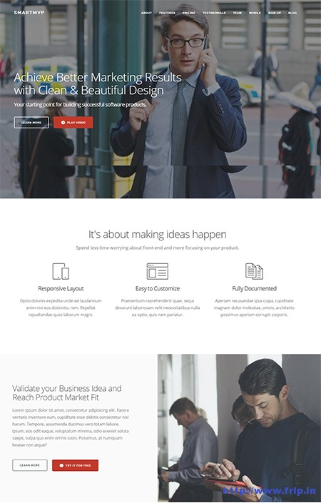 SmartMvp Landing Page WordPress Theme