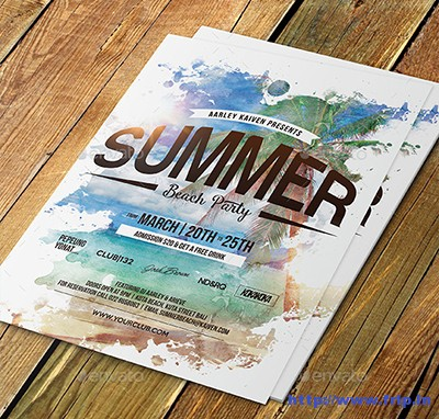 Summer-Beach-Party-Flyerrs