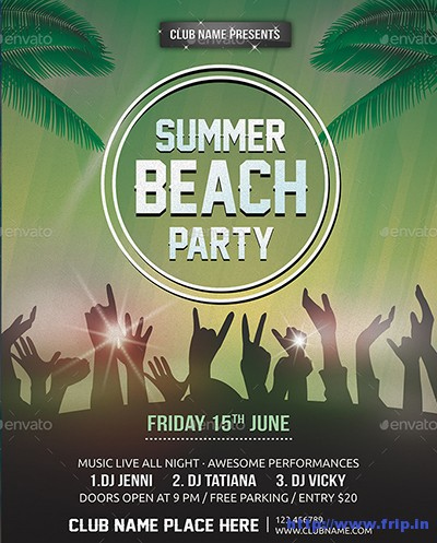 Summer-Beach-Party-Flyers